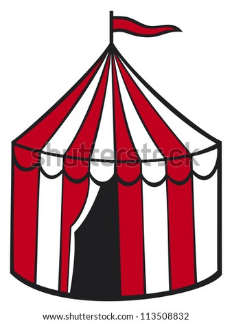 circus tent  sc 1 st  Shutterstock & Cartoon Circus Tent Stripes Flags Isolated Stock Vector 66067117 ...