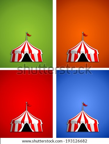 Circus Tent sign with background - stock photo
