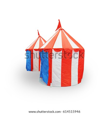 Circus tent small size for Childrenu0027s play isolated on white background this has clipping path  sc 1 st  Shutterstock : tent small - memphite.com