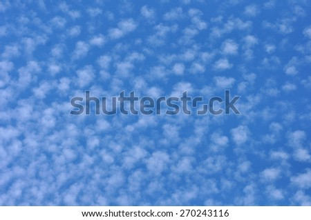 Cirrus clouds - stock photo