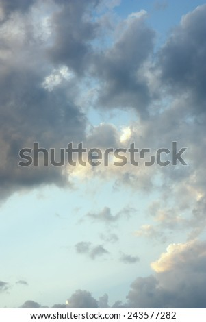 Cirrus clouds before the rain and storm  - stock photo