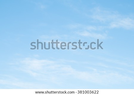 cirrus clouds on a blue cloud - stock photo