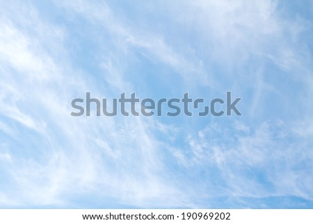 Cirrus, fibrous clouds and blue sky - stock photo