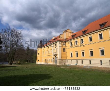 Cisterian's castle in Rudy - stock photo