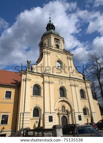 Cisterian's church in Rudy - stock photo