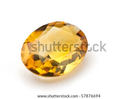 citrin Jewel isolated against a white background - stock photo