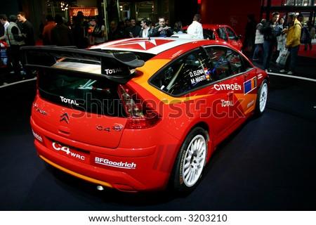Citroen C4 WRC at Motorshow Bologna 2006 - stock photo