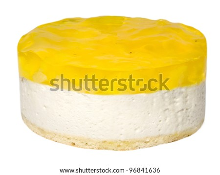 Citrus Lemon White Cake - stock photo