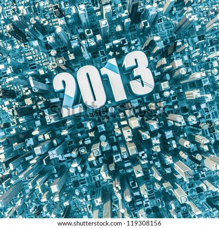 City 2013 - stock photo