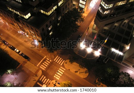 city at night - stock photo