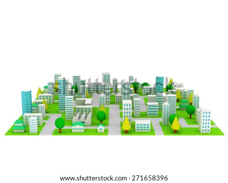 City background  - stock photo