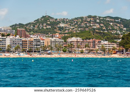 City beach of Lloret de Mar, Spain