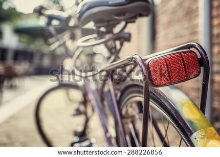 City bike on street. - stock photo