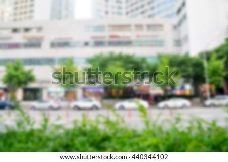 city blur background - stock photo
