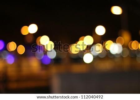 city bokeh background - stock photo