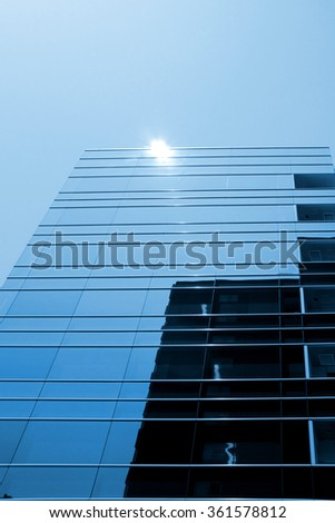 City building, modern architecture elements