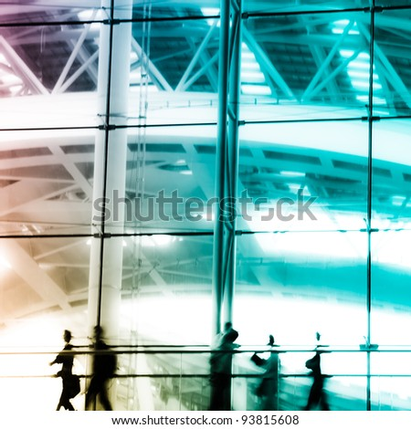 city business people abstract background blur motion
