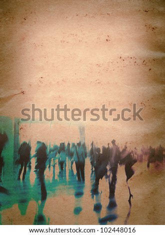 city business people abstract grunge paper texture background - stock photo