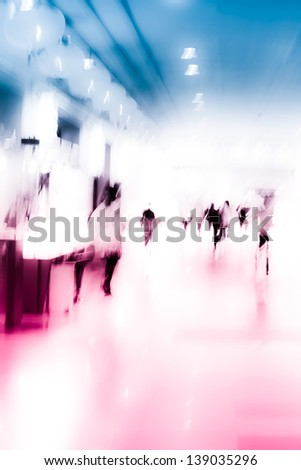 city business people urban scene abstract background, blur motion