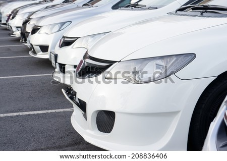 city cars - stock photo