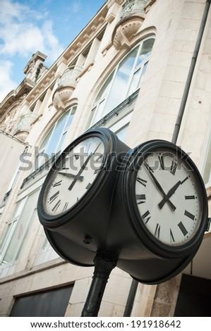city clock  - stock photo