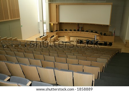 City council meeting room interior - stock photo