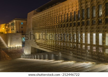 City gates of Valletta - stock photo