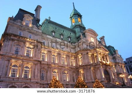 City Hall at evening - stock photo