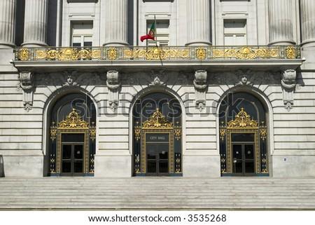 City Hall Doors - stock photo