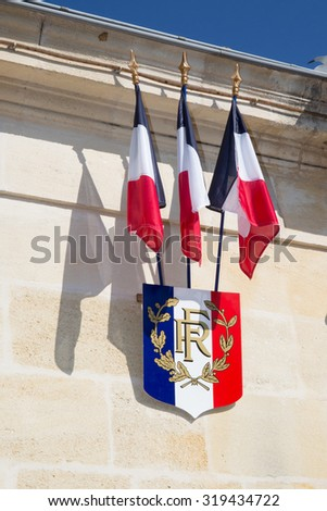 City hall of a nice town  in France - stock photo