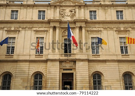 city hall of Arles in Provence