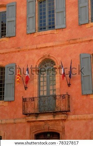 city hall of Roussillon in Provence
