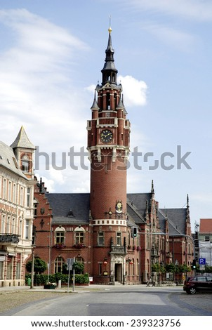 City hall of the city of Dahme/Mark in Brandenburg.