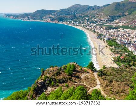 city harbor of Alanya, Antalya, Turkey - stock photo