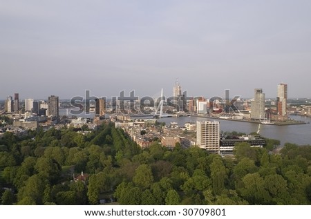 City harbor Rotterdam netherlands holland - stock photo