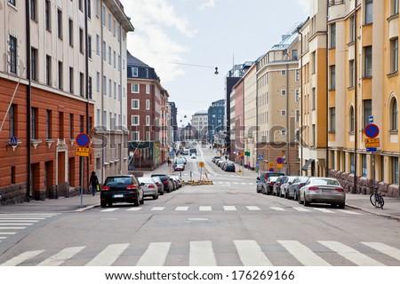 City Helsinki. Cityscape - stock photo