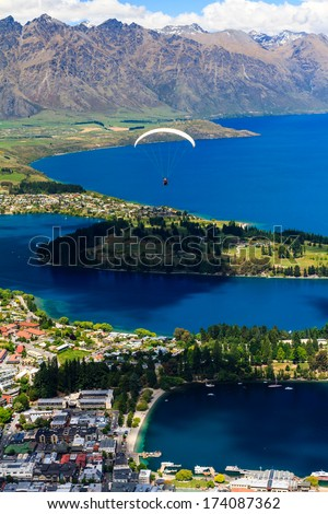 City in the Mountains, Queenstown, South Island, New Zealand