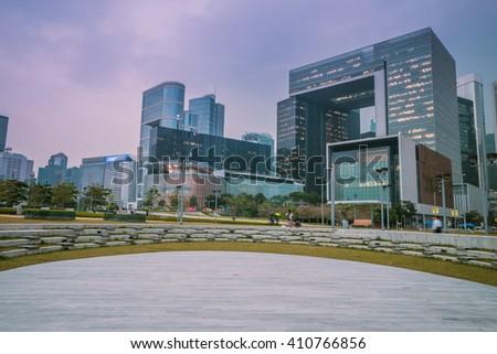 City landscape of Hong Kong,China - stock photo