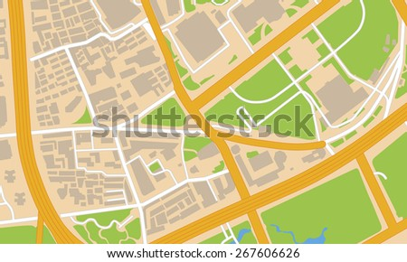 city map - stock photo