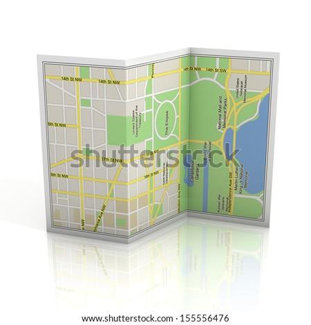 city map 3d illustration - stock photo