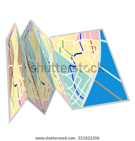 City map icon raster isolated on white, guidance, tourist map, destination