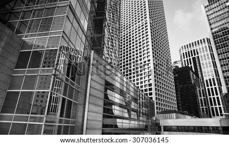 Modern Architecture Perspective city modern architecture perspective tall buildings stock photo