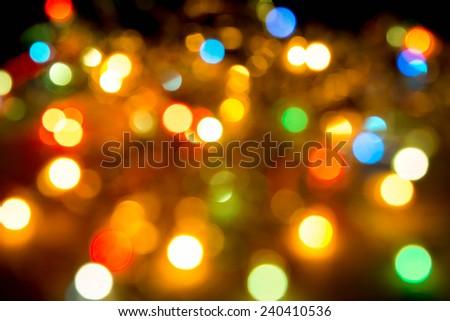 City night light blur bokeh , defocused background  - stock photo