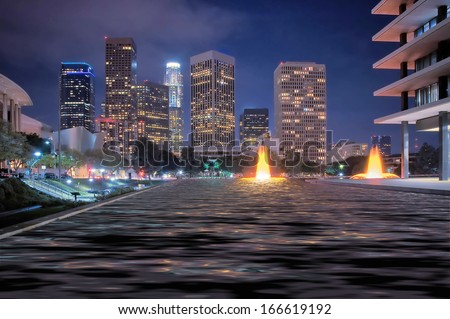 City Night Scene - stock photo