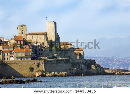 City of Antibes on the Cote d'Azur, south of France - stock photo