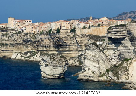 City of Bonifacio, Corsica, France - stock photo