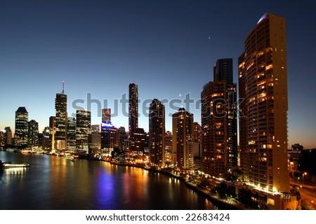 City of Brisbane  in Australia - stock photo