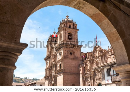 City of Cuzco in Peru, South America - stock photo