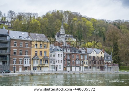 City of Dinant along the river Meuse, Belgium