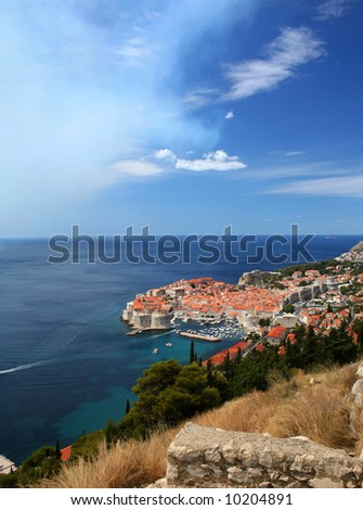City of Dubrovnik, Croatia, Adriatic sea - stock photo